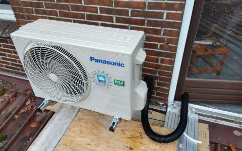 Aussengeraet von vorne Klimaanlage fuer ein Wohnzimmer