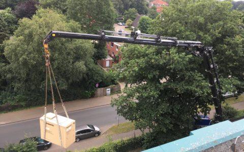Kranarbeiten fuer Klimamontage Ammerland Oldenburg 02