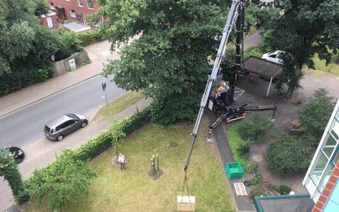 Kranarbeiten fuer Klimamontage Ammerland Oldenburg 03