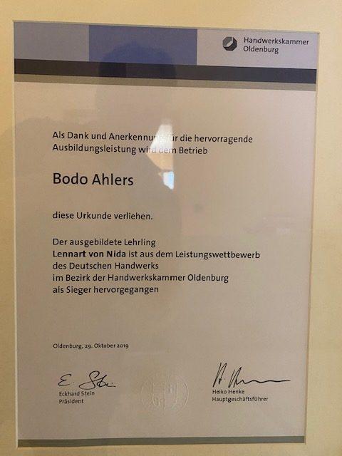 Urkunde Kaelteanlagenbauermeister Ausbildung 2019