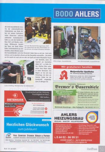 25 Jahre Ahlers Kaelte und Klimatechnik Wiefelsteder 4